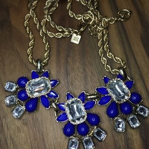 Retro Inspired Bauble Gems & Rope Chain Necklace
